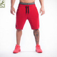SJ 2017 New Brand High Quality Cotton Men shorts Bodybuilding Fitness Gasp basketballRunning workout jogger shorts golds