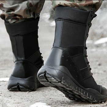 Summer Combat Boot Men Women Climbing Training Lightweight Waterproof Tactical Boots Outdoor Hiking Breathable Mesh Army Shoes 3