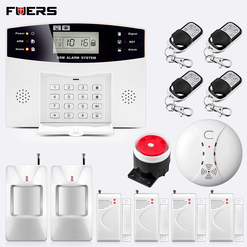 Fuers Dp500 Wireless Gsm Home Security Alarm System Wireless Door Sensor Pir Detector Smoke