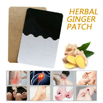 10PCS Patches Ginger Detox Patch Body Neck Knee Pad Herbal Pain Relief Health Care Chinese Ginger Herbal Adhesive Pads TSLM1 1