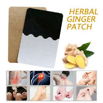 10 PCS Patches Gengibre Detox Patch Corpo Pescoço Joelho Almofada Herbal Alívio da Dor Cuidados de Saúde Chinês Ginger Herbal Almofadas Adesivas TSLM1 1
