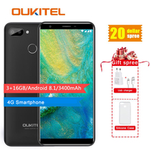 Original OUKITEL C11 Pro 5.5 inch 18:9 Android 8.1 Mobile Phone Quad Core 3GB RAM 16GB ROM 4G Cell phones 3400mAh Smartphone