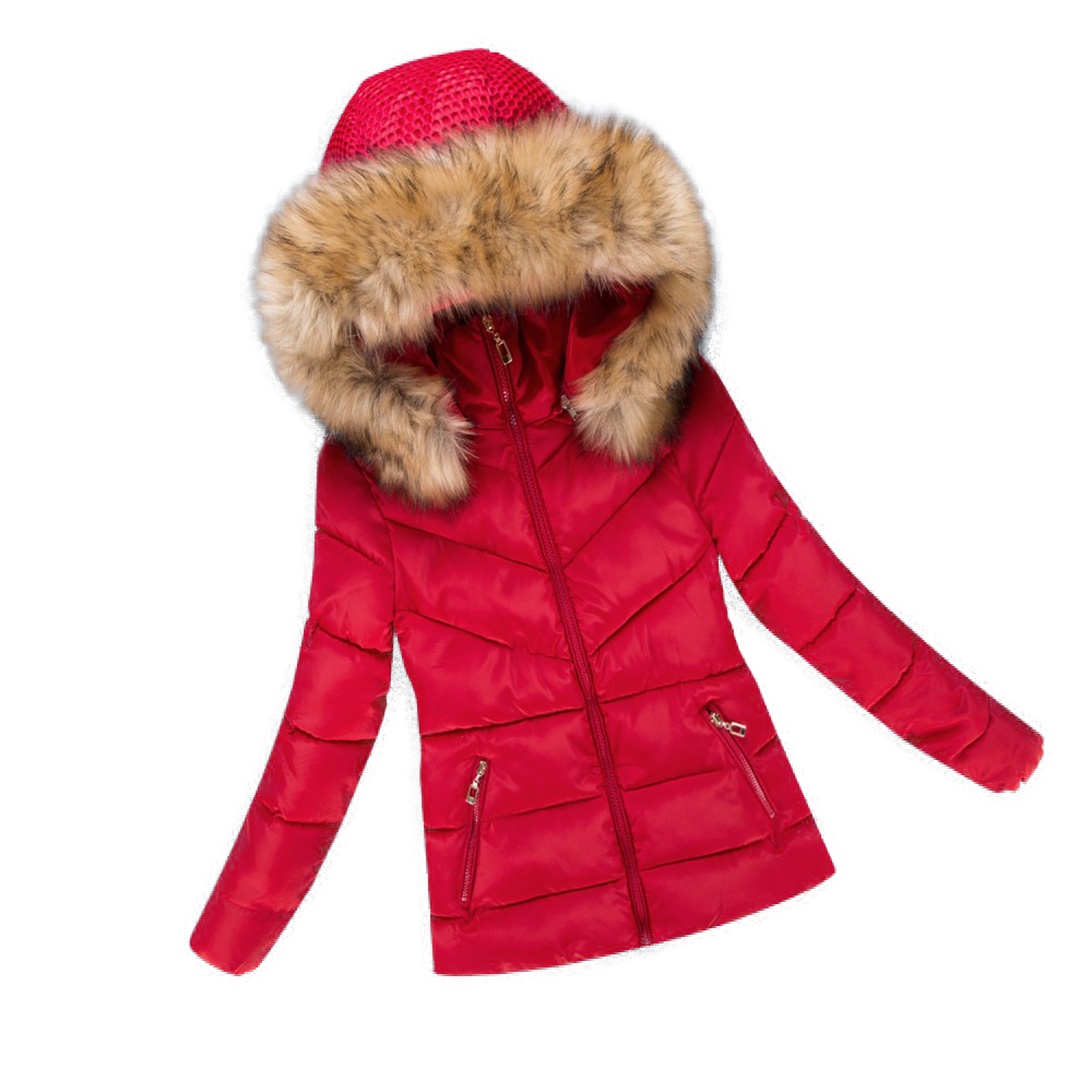 2017 New Fashion Women Jacket Winter Thick Parkas Women Coat Hooded Female Cotton Warm Outwear Casual Jacket with Fur Collar women winter coat leisure big yards hooded fur collar jacket thick warm cotton parkas new style female students overcoat ok238