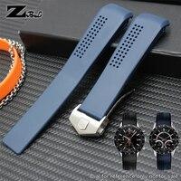 Силиконовый резиновый ремешок для часов 22 мм, спортивный ремешок для часов 20 мм, водонепроницаемые мягкие часы, ремешок с пряжкой, наручные ...