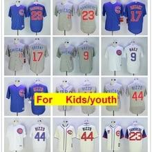 0d93c03fd youth Chicago Javier Baez Anthony Rizzo Kris Bryant Ryne Sandberg FLEX    Cool Base Player Jersey