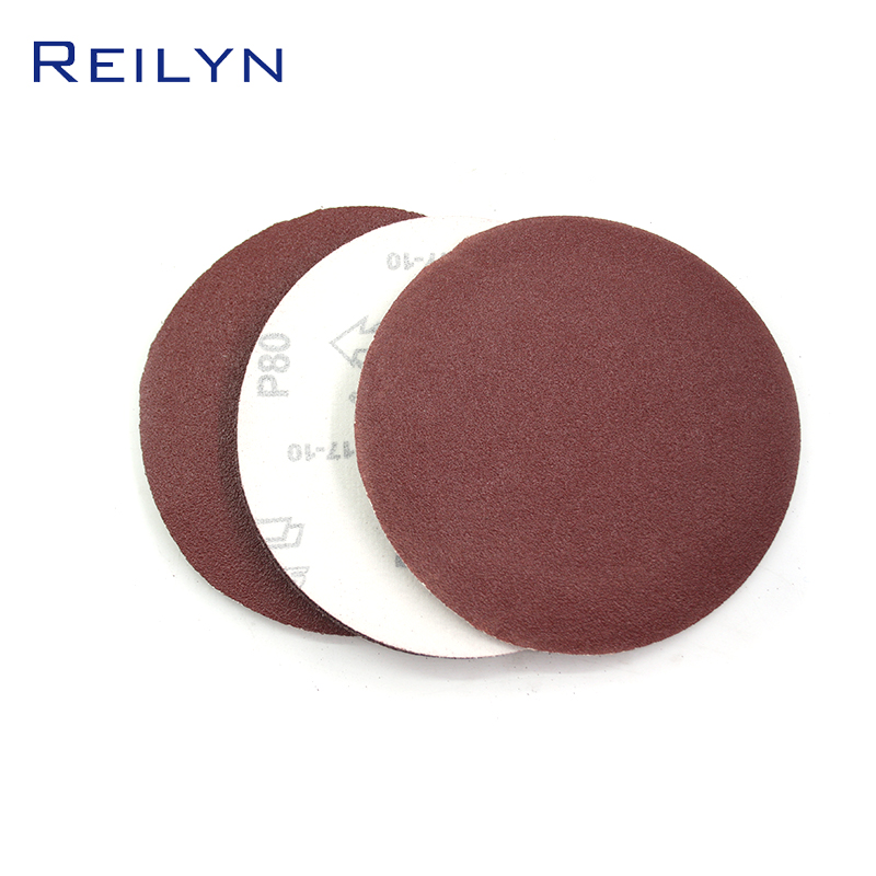 New Polished Sandpaper Tray 6 Inch 150mm Flocking Sandpaper Tray Brushed Back Paper Base Material Jade Metal Polishing
