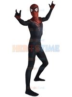 The Superior Spider Man Costume Black Red Spider Morph Suit Halloween Cosplay Spiderman Costume Hot Sale