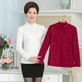 Ruffled collar Lace Floral spring women chiffon blouse 2017 Plus size 5XL fashion casual ladies long sleeve shirt female top