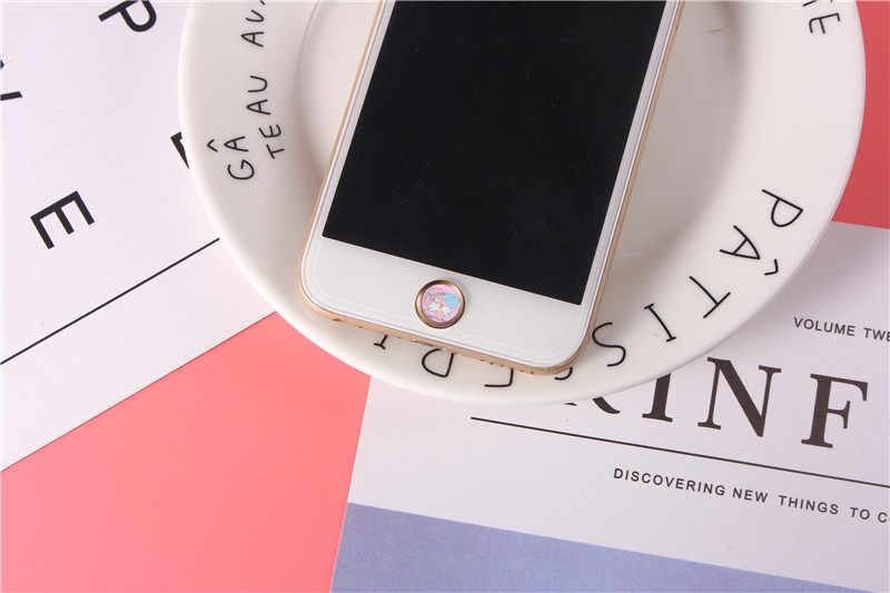 لطيف الكرتون الهاتف اللمس معرف زر ملصق آيفون 8 7 6 Plus 5 5s ملصقات الهاتف لباد برو دعم بصمة