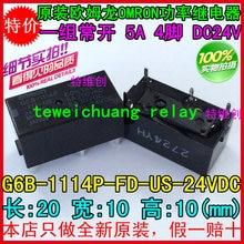 Freies verschiffen neue original-relais 10 teile/los G6B-1114P-FD-US-24VDC G6B-1114P-FD-US-24V G6B-1114P-FD-US 24VDC 5A 4PIN