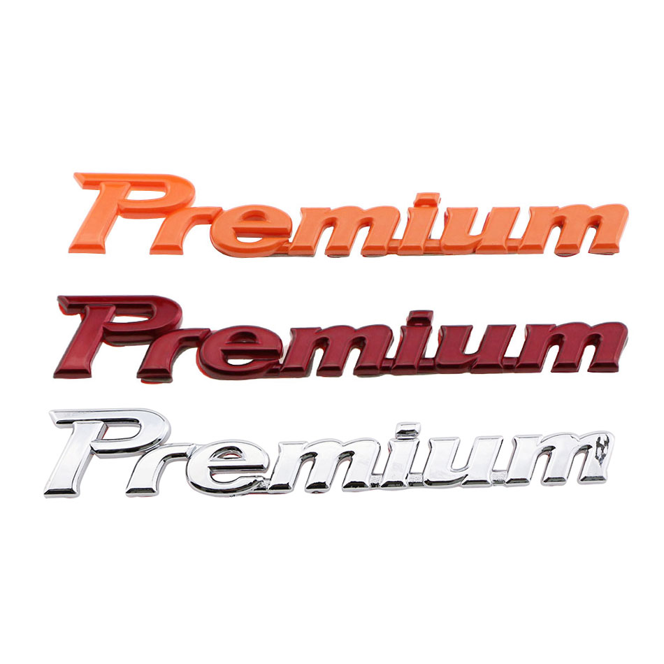 1Piece ABS Chrome High-profile Premium Logo Car Styling Stickers for Ford VW Skoda Seat BMW Audi Benz Peugeot Citroen Lada