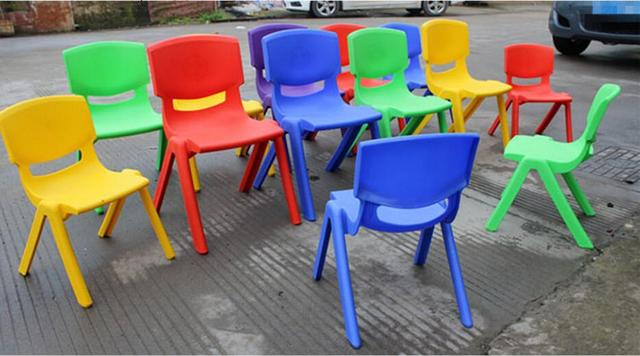 24cm Seat height Safety Thicken Kindergarten chair small stool back-rest chair for 1-2 years kids 4
