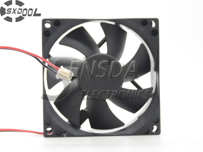 SXDOOL 8cm 80mm cooling fan 8025 80*80*25 80X80X25 mm Sleeve DC 24V 0.15A case cooling fan 2-wire 2pin quiet low noise delta ffb0824vhe 8038 dc 80 80 38mm dc 24v 0 25a 4200rpm 57 21cfm cooling fan