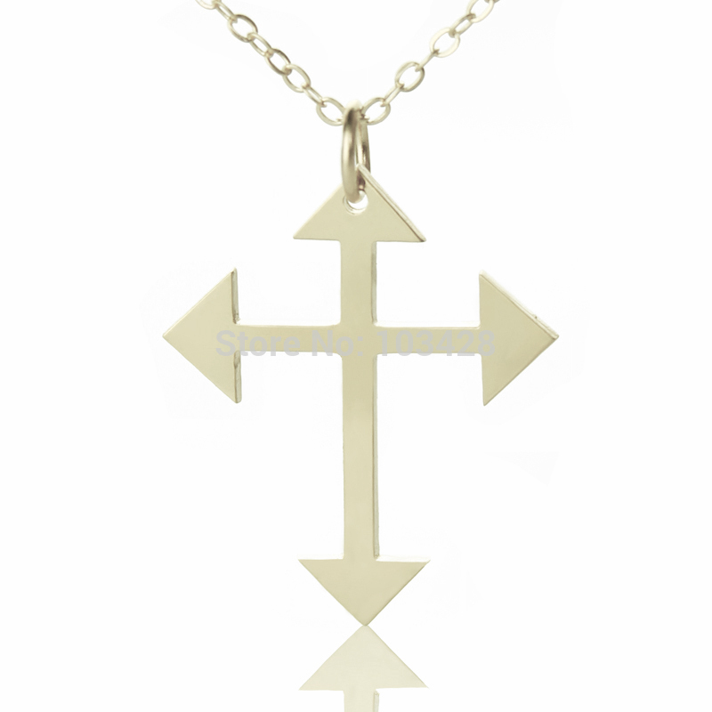 Simple cross necklace sterling silver arrow cross jewelry religious simple cross necklace sterling silver arrow cross jewelry religious cross necklace latin cross charm best gift for christmas in chain necklaces from jewelry aloadofball Image collections