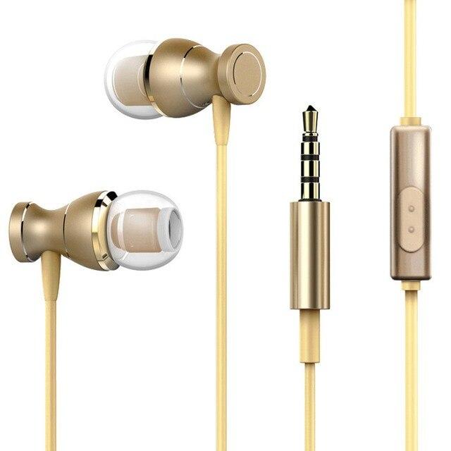 Écouteurs filaires universels en métal écouteurs intra-auriculaires 3.5mm dans loreille écouteurs avec micro casque magnétique stéréo