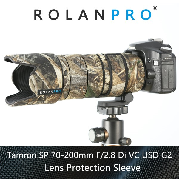 ROLANPRO Lens Clothing Camouflage Rain Cover for Tamron SP 70 200mm F 2 8 DI VC
