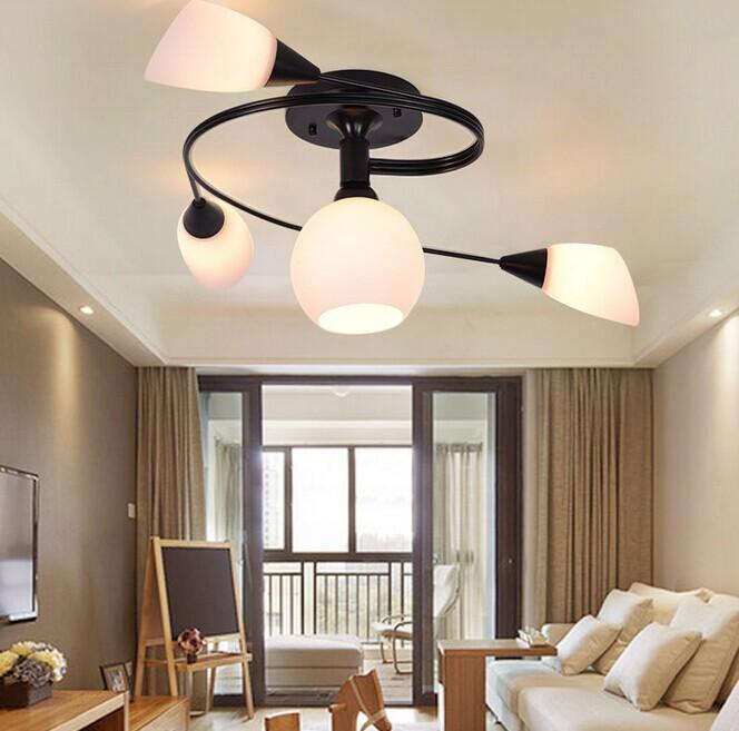iluminacin de interior lmparas de techo dormitorio moderno saln lmparas de luz de techo para la