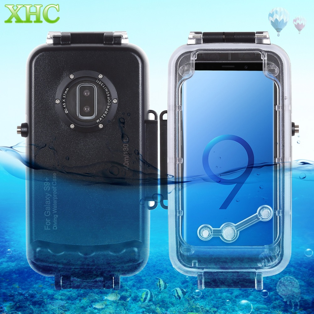 HAWEEL 40 m/130ft boîtier de plongée étanche Photo vidéo prise étui de couverture sous-marine pour Galaxy S9 S9 + Smartphone