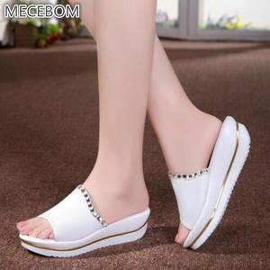 222282819b28 MECEBOM Summer Beach Flip Flops Slippers For Women Shoes