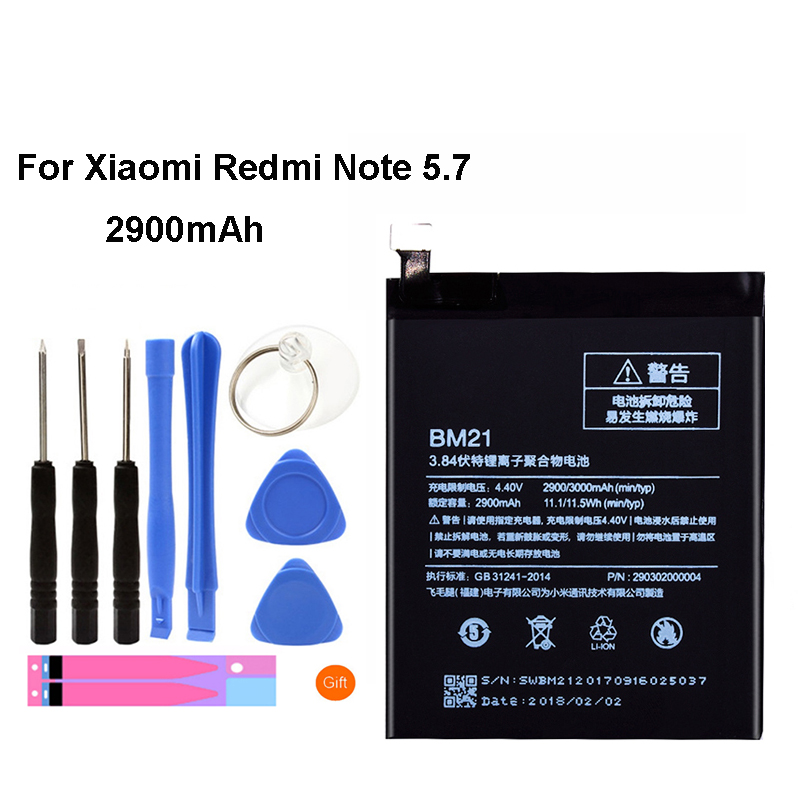 Original BM21 Battery For Xiaomi Mi Note 3GB RAM 2900mAh Replacement Li-ion Battery + Tool