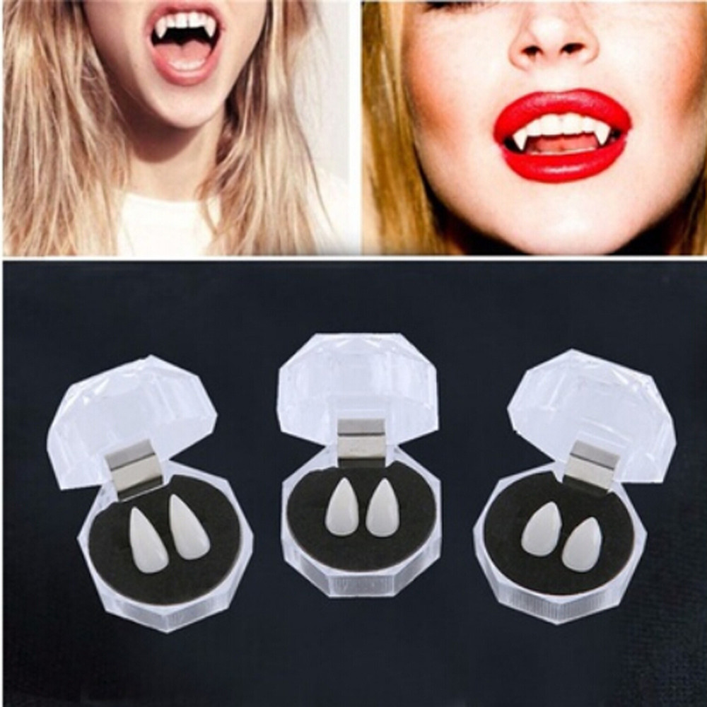 Devil Tooth Fangs Caps Zombie Vampire Dentures Halloween Party Props Squishy Toys For Kids Toys Antistress Kuso Squishi Kawaii