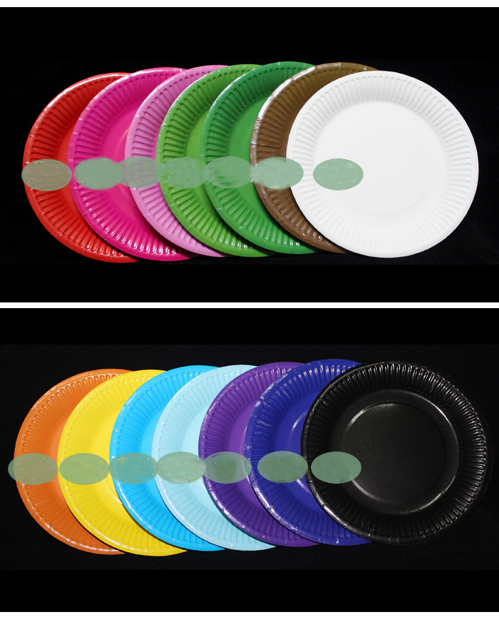 18cm\u003d7inch Eco friendly disposable Paper Plates solid for Birthday Wedding Party Decoration baby shower gift craft DIY favor Wh-in Disposable Party ...  sc 1 st  AliExpress.com & 18cm\u003d7inch Eco friendly disposable Paper Plates solid for Birthday ...