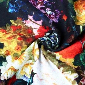 Image 4 - VIANOSI Bandana estampada para mujer, pañuelo de invierno, bufandas gruesas calientes de lana
