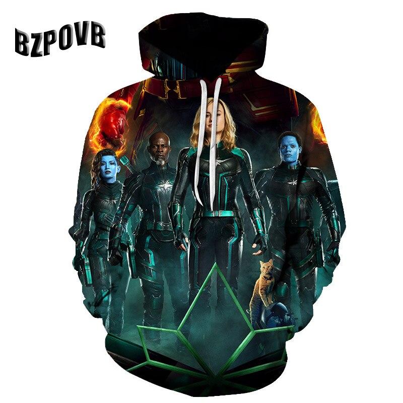 Hoodies Avengers Movies Superhero Iron-Man/thor-Print New-Fashion The Cosmos 3d Men Women