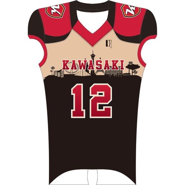 Kawasaki Marca Personalizado bola de futebol Americano Camisa de Futebol de  Formação Camisa De Futebol Da af61d53bb2070