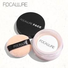 Focallure Oil control Smooth Loose Powder  face Foundation Makeup Setting Palette Professional Translucent Compact