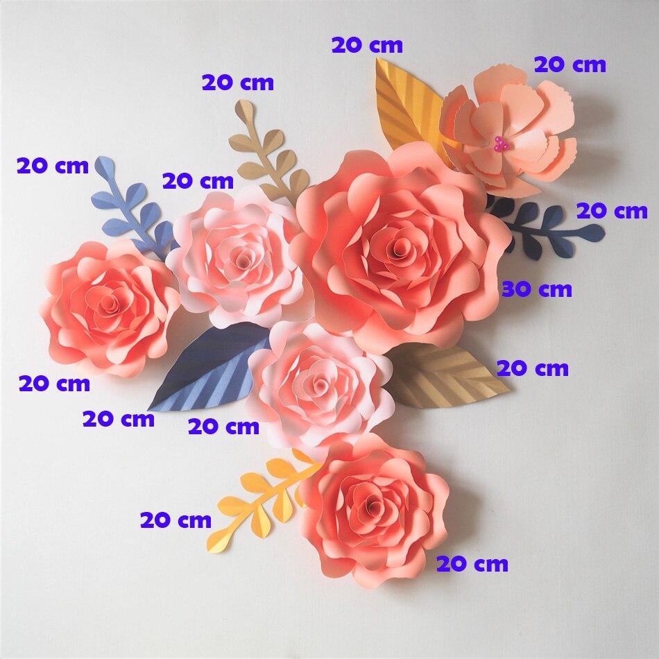 Diy Artificial Flowers Fleurs Artificielles Backdrop Giant Paper