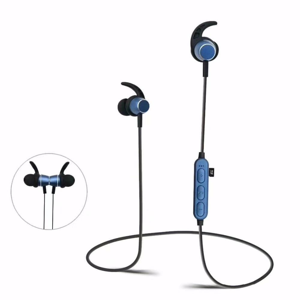 Bluetooth headset MP3+FM radio function wireless in-ear style running sports 3.5mm Earphone Magnetic Stereo headphone universal