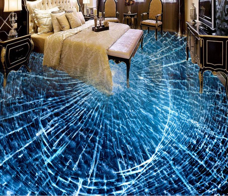 Glass Wallpaper: Creative Personality 3d Flooring Photo Wallpaper For Kids