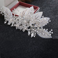 High Quality Crystal Beads Wedding Hair Jewelry Comb Handmade Bridal Headpiece Silver Accessories