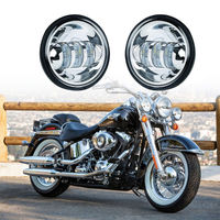 2PCS 4.5inch 6000K LED Passing Fog Light for Harley Davidson Softail Sportster Street Tour Hydra Glide Heritage Springer