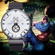 Mens Watches Ultra-Thin Clock Chronograph Quartz Waterproof Sports Top-Brand SINOBI Luxury