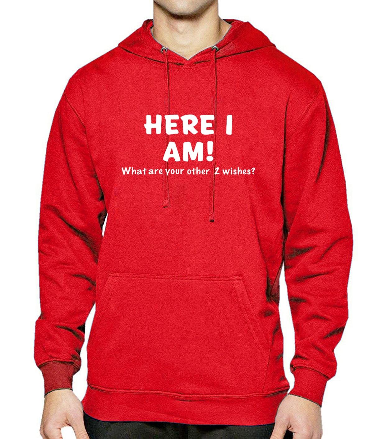 HERE I AM Letter Print Sweatshirts For Men Hoody 2017 Spring Winter Mens Hoodies Fleece Warm Crossfit Kpop Sportswear Hoodie Hot