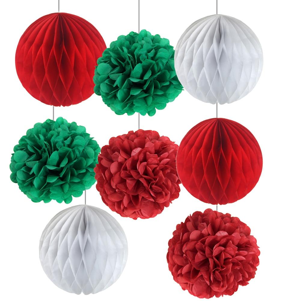 How To Make Paper Balls For Decoration: Pom Poms Christmas Decorations