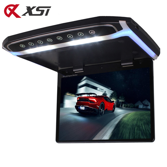 XST 17.3 Inch Car Roof Mount Monitor Flip Down TFT LCD Player With HD 1080P Video USB FM HDMI SD Touch Button Ceiling MP5 Player