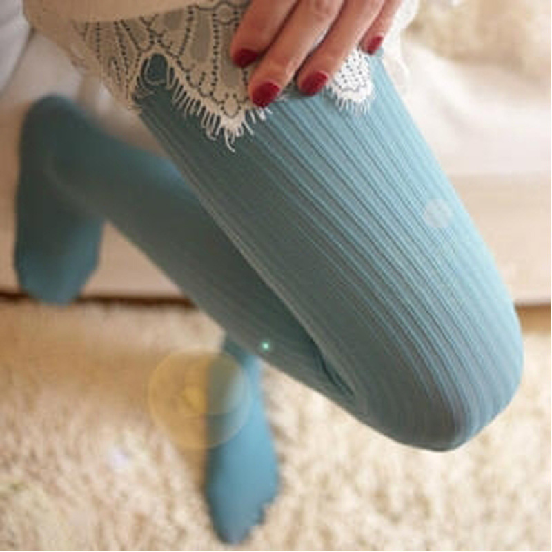 W748 high quality women girls tights Japans original vertical stripes velvet pantyhose woman 140D pantyhose