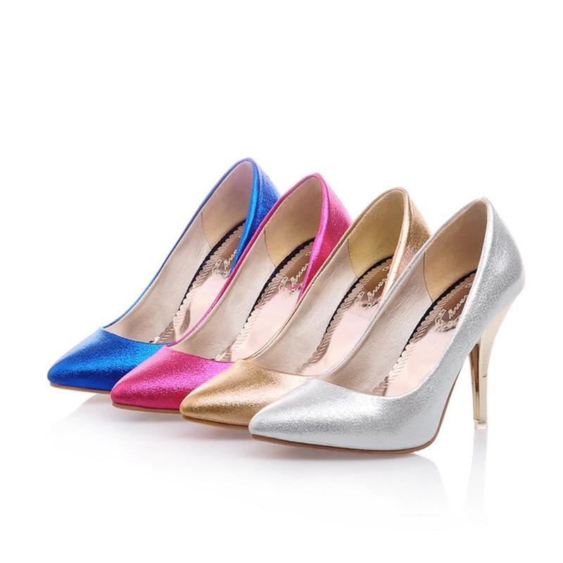 OL Italian high heels Shoes High quality Sandals Stilettos Designer Single Shoes Plus size 34-47 Womens Pointy Toe Elegant Pumps sorbern elegant fish scales pump high heels women shoes pointed toe ol shoes wedding shoes stilettos womens basic pumps
