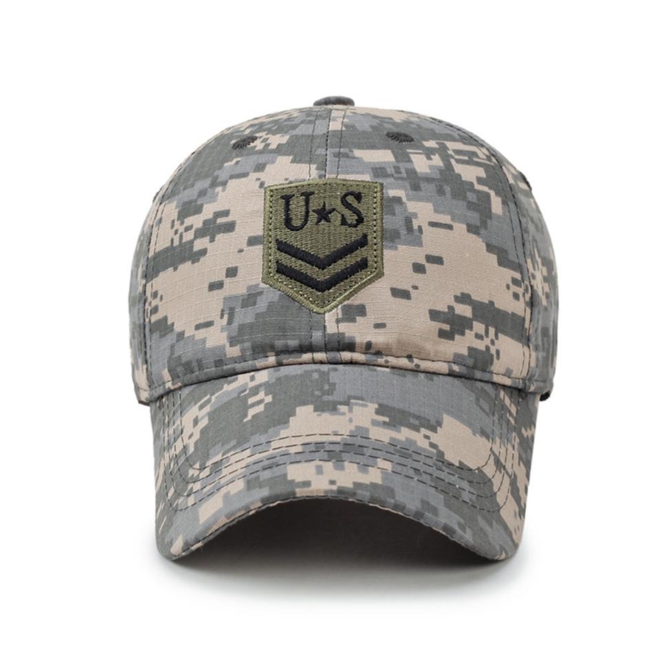 5f86852d Wholesale LTGFUR New Camo Flat Cap US Army Cap Men Baseball Cap ...