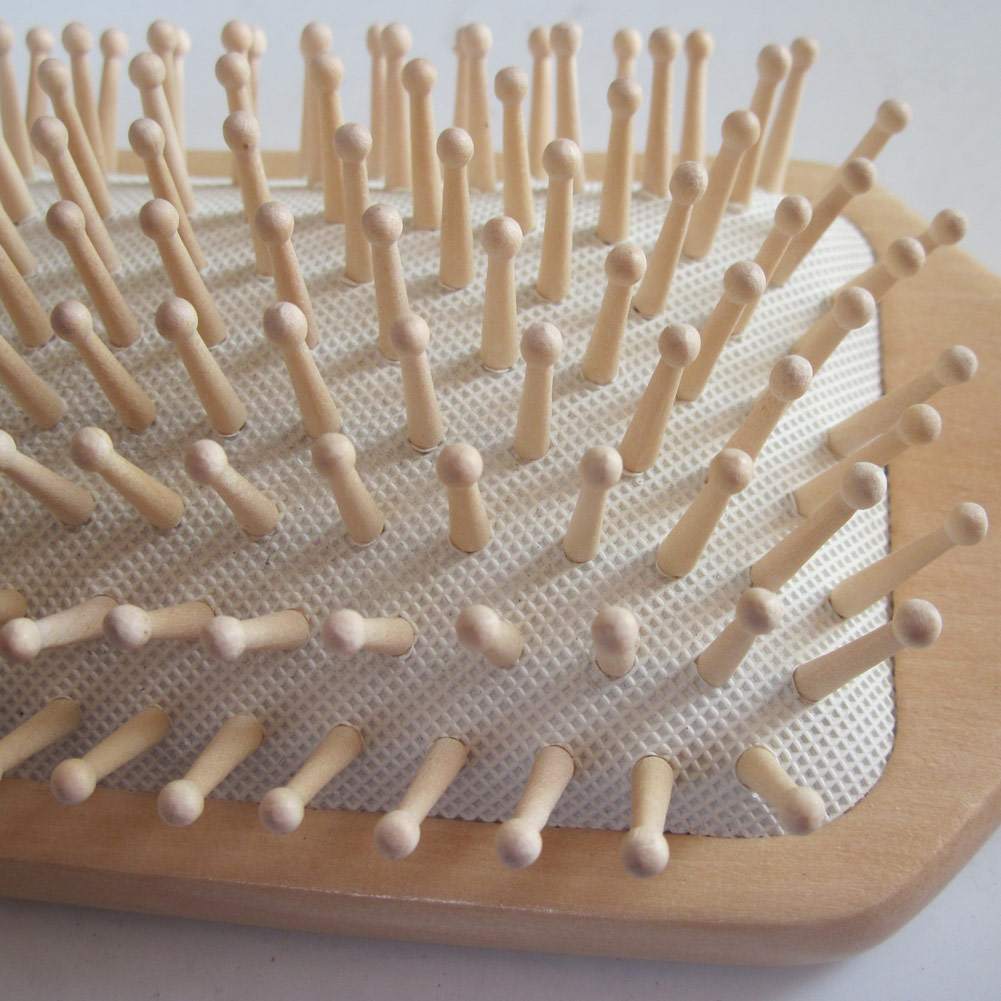 Купить с кэшбэком Anti Static Wooden Paddle Comb Scalp Hair Care Brush Massage Wooden Spa Antistatic Comb Massage Head Promote Blood Circulation