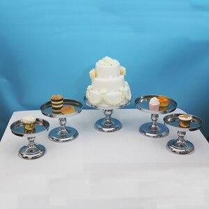 Image 3 - מראה דוכן עוגת חתונה מרכזי תצוגת מסיבת אירוע קישוט cupcake stand סט ילדי יום הולדת