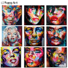 Free shipping Nielly Francoise pop street art people face oil painting 100% handpainted on canvas wall decor for living room