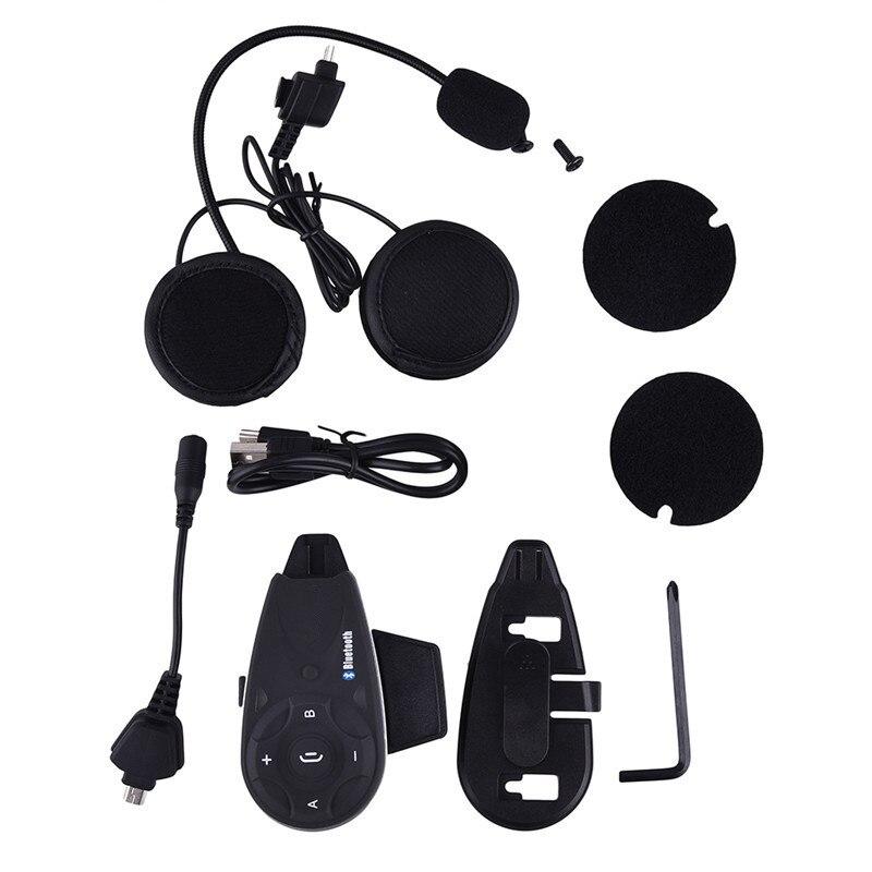 V5 1200 m Bluetooth Moto Casque Interphone/Interphone Casque Sans Fil casque, soutien mp3/GPS/Téléphone pour 5 Coureurs