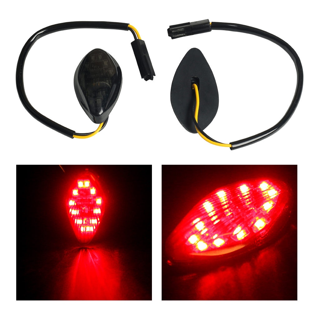 2X 12V Car Styling Side Turn Signal Light For Honda Grom 2014-2016 Flush LED Turn Signals Warning Lamp Amber/Red