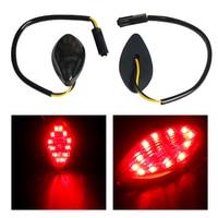 2x12 В стайлинга автомобилей Поворотники боковые свет для Honda гром 2014-2016 флеш LED Сигналы поворота сигнальная лампа желтый/красный