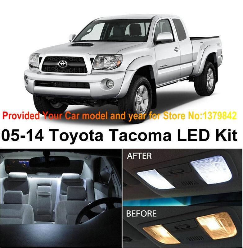 Free shipping 5pcs lot xenon white premium package kit led - Toyota tacoma led interior lights ...
