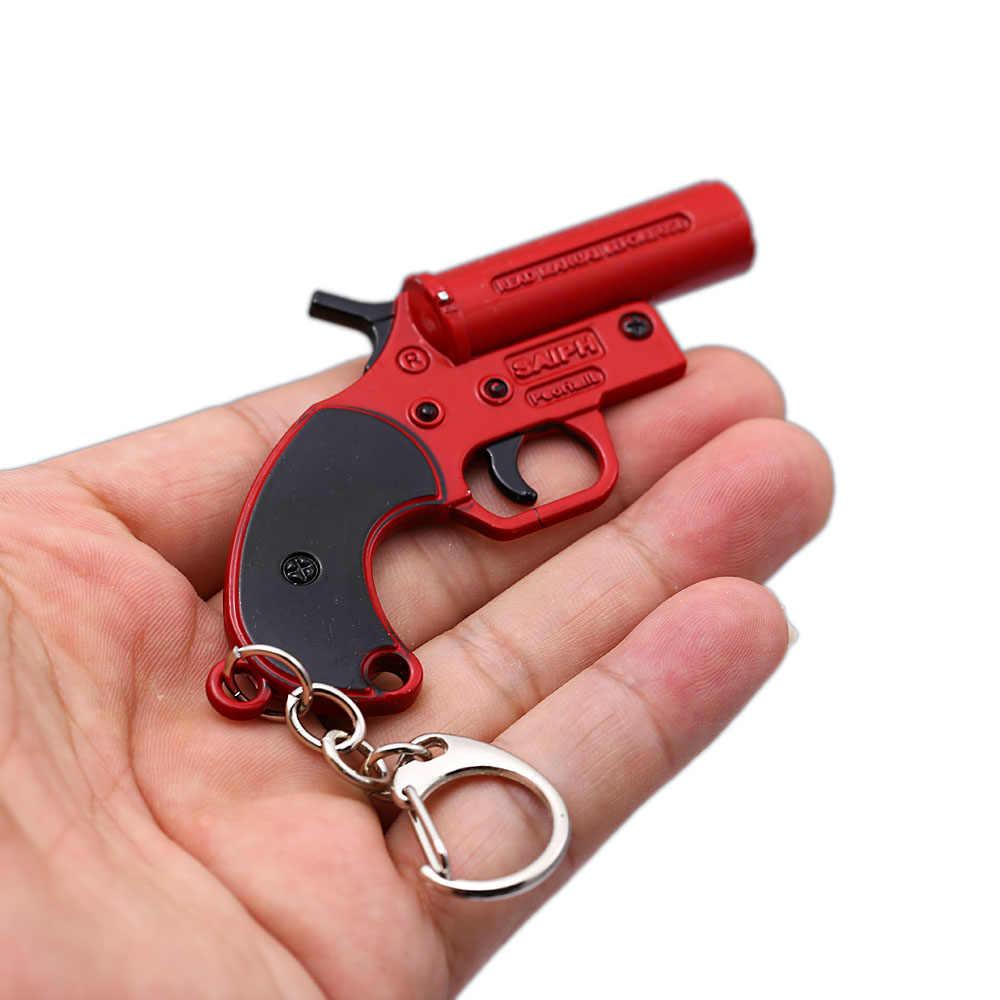 HSICเกมPlayerunknownของBattlegrounds PUBGพวงกุญแจF Lareปืนโลหะจี้พวงกุญแจผู้ถือแฟนผู้ชายคอสเพลย์เครื่องประดับHC12860